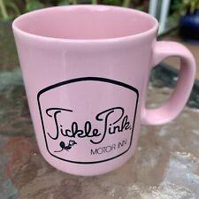 Vtg Tickle Pink Motor Inn Ca Motel Mug/Cup Staffordshire Kiln Craft Carmel Rare!