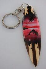 Surfbrett Schlüsselanhänger  Delphin  airbrush