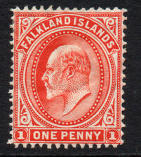 Falkland Islands 1 Penny Stamp c1904-12 Mounted Mint Hinged (3723)