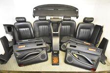 Jaguar XJ6 XJ12 XJ40 BLACK LEATHER DAIMLER INTERIOR SEATS PROJECT MK2 TRIM WOOD