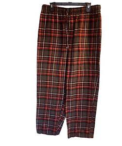 Men's Super Soft Cotton Flannel Plaid Pajama Sleep Pants Croft & Barrow Large