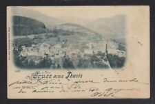 SWITZERLAND 1902 GRUSS AUS THUSIS POSTCARD ST MORIZ TO PARIS FRANCE