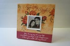 "For My Wife Musical Frame Canvas Covered 8""  Plays Let Me Call You Sweetheart"