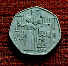2003 SUFFRAGETTE 50p piece Give Women the Vote Fifty Pence Coin