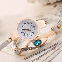 Women Crystal Bracelet Wrist Watch Fashion Quartz Ladies Stainless Steel NEW