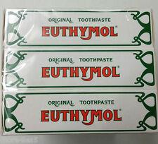 3 X 75ml Euthymol Original Toothpaste Brand of Antiseptic , Fluoride Free 2018