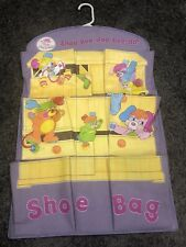 Vintage Popples Shoe Bag Hanging Shoe Holder 9 Pocket Read Description