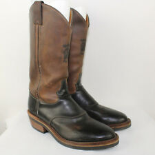 CHIPPEWA Men's Brown Leather Cowboy Boots Size 8.5D