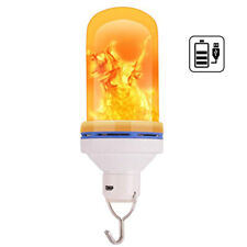 USB Rechargeable LED Flame-Effect Simulated Nature Fire Light Bulb Night Lamp