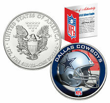 DALLAS COWBOYS 1 Oz American Silver Eagle $1 US Coin Colorized NFL LICENSED