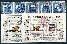 Guatemala 979/84 a + b Block 16 a + b postfrisch / UPU ....................1/973