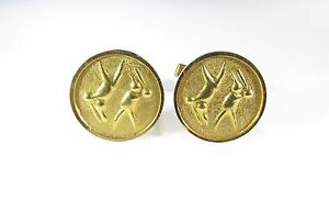 Gold Tone Cufflinks with Baseball and Volleyball Image