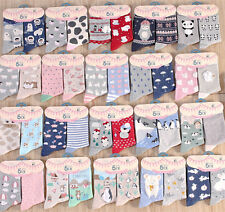 2 Pairs Lot Women Girl Funny Novelty Cartoon Ankle Socks Cotton,UK 3-6 Good Gift