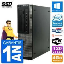 PC Dell OptiPlex 790 DT Intel G630 RAM 4Go SSD 120Go Windows 10 Wifi