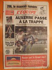 L'équipe 16706 du 22/1/2000-Auxerre passe à la trappe-Pierce,Halard,Escudé visen