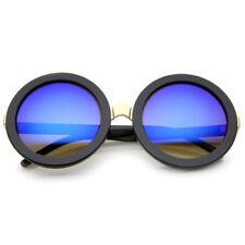 Gafas de sol de mujer de espejo negro plástico