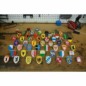 VW VOLKSWAGEN HOOD BADGE SET - 55 Pcs! bug beetle okrasa split oval zwitter kdf