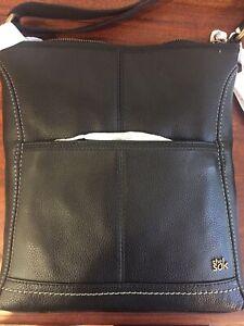 The Sak Iris Leather Crossbody - Black with Khaki Lining. New with tags.