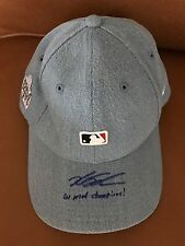 LE CUBS WORLD SERIES CAP-SIGNED INSCRIBED KYLE SCHWARBER-WS CHAMPIONS- 1/1 MLB