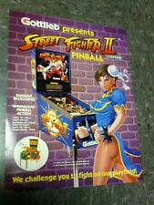 Gottlieb Street Fighter 2 Pinball Flyer-Gute Original