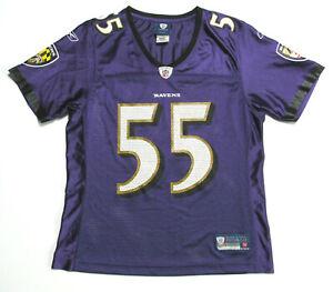 Terrell Suggs Baltimore Ravens #55 Jersey Women's Size M Purple Reebok (S10)