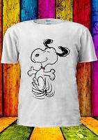 Snoopy PEANUTS Cartoon Happy Cute T-shirt Vest Tank Top Men Women Unisex 413