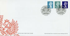 More details for gb machin definitives stamps 2021 fdc 2021 tariff queen elizabeth ii 3v s/a set