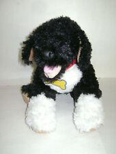 "Build A Bear Pup Puppy Dog Black White w/ Collar 15"" Plush Stuffed Retired Cute"