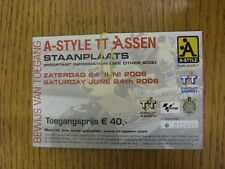 24/06/2006 Ticket: World Superbikes Championship [At Assen, Holland] (folded, cr