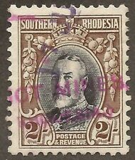 SOUTHERN RHODESIA KGV 1931-37 SG25a blue and drab Perf 11½ Used (JB11760)