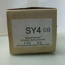 NEW AAA DOUBLE SOLENOID VALVE SY4GO SY4G0 3-POSITION 120V 60HZ 160 MAX PSI NIB
