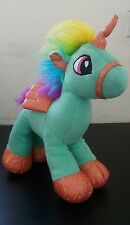 Six Flags RAINBOW UNICORN Plush  Stuffed Animal With Wings Rare toy doll.