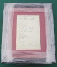 """1937-38 BURY FOOTBALL CLUB signé monté sur page d'album en affichage 11"""" X 9"""" Cadre"""