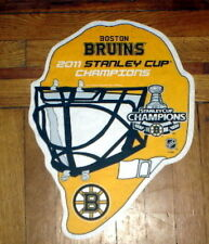 BOSTON BRUINS GOALIE MASK STANLEY CUP CHAMPS PENNANT