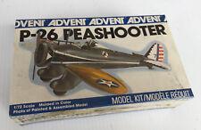 Vintage Advent P-26 Peashooter Pioneer World War II Fighter Plane Model Kit, NIB