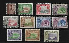 Dominica KGVI 1938 pictorials complete set to 1/- LMM (8030)