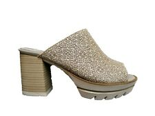 CALLAGHAN 25202 Sandal Undermined Women's Shoes Heel Hoof Leather White
