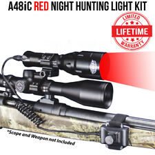 Wicked Lights A48iC Ambush Night Hunting Light Kit w/ Red LED for Coyotes, Hogs