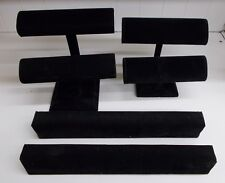 Kw-655 4 Black Velvet Jewelry Bracelet Display Holders 2 Bar Single