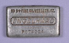 Engelhard 7th Series 10 ounce 999 Fine Silver Poured Bar Waffle Back  P074224