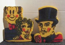 "Vintage Mandrake the Magician & Blondie Ruskin 6"" Comic Sponges VG+ 4.5"