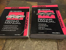 2000 Toyota Tundra Pick Up Truck Service SHOP Repair Manual Set