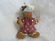 Gingerbread Man Chef Holiday Baking Cookie Rolling pin Christmas Tree Ornament