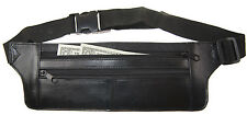 Genuine Real Leather Travel Bum Bag Hide Money Waist Belt Fanny Pack