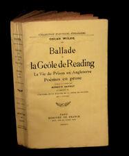 WILDE (Oscar) - Ballade de la geôle de Reading.