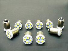 10 Buick BRIGHT White 12V LED Instrument Panel BA9S 1815 Light Bulbs 1895 NOS