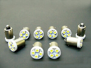 10 Buick BRIGHT White 12V LED Instrument Panel BA9S 1815 Light Bulbs 1895 NOS