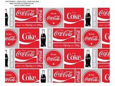 COCA COLA COTTON FABRIC-COCA COLA QUILTING FABRIC-COCA COLA COKE FABRIC-10053