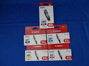 GENUINE CANON PIXMA PGI - 680XXL  - CLI 681XXL SERIES - 5 PACK
