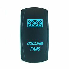 Laser Waterproof Rocker Switch Push Button Blue LED COOLING FANS Backlit